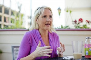 Sheri Atwood, founder and CEO of SupportPay, speaks during an interview with Reuters in Redwood City, California July 2, 2014. REUTERS/Beck Diefenbach