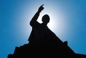 Great debate, Obama, speaker, silhouette