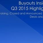 Q3 2015, slideshow, data, Buyouts