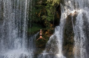 waterfall, diving, water, risk