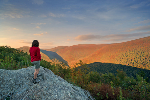 Berkshire mountains, Massachusetts, hiker, shutterstock_318219197
