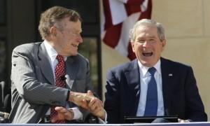 George H.W. Bush, George W. Bush, presidents, United States,