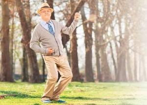 grandpa, senior citizen, air guitar, feeling young, pep
