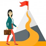 businesswoman, illustration, mountain, hill, challenge, shutterstock_376256422