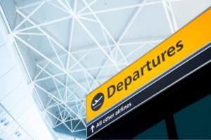 depart, departure, leave, leaving, exit