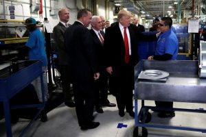 Trump touring Carrier factory