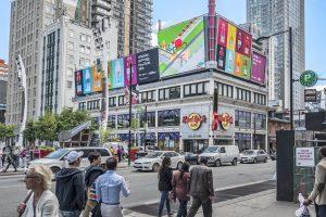 Cieslok Media billboard at Toronto's Yonge and Dundas Square
