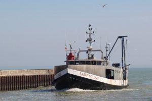 Presteve Foods fishing vessel on the Great Lakes