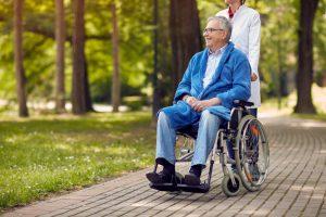 nurse, patient, wheelchair, mobility, healthcare,