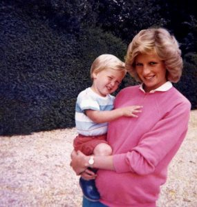 Princess Diana with son William