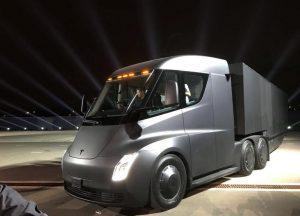 Tesla's new electric semi truck
