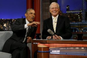 Obama and Letterman