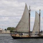 ship, schooner, statue of liberty