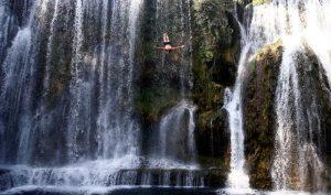 waterfall, diving,