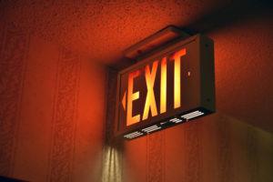 Illuminated emergency exit