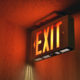 Illuminated emergency exit