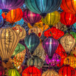 Lanterns in Ho Chi Minh, Vietnam