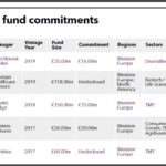 ISIF private equity fund commitments