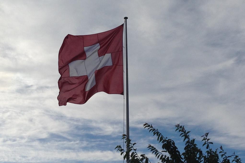 Swiss, flag, Switzerland