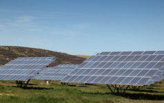 Large scale solar farm located in rural Spain