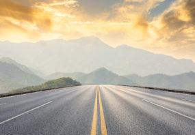 direct road straight