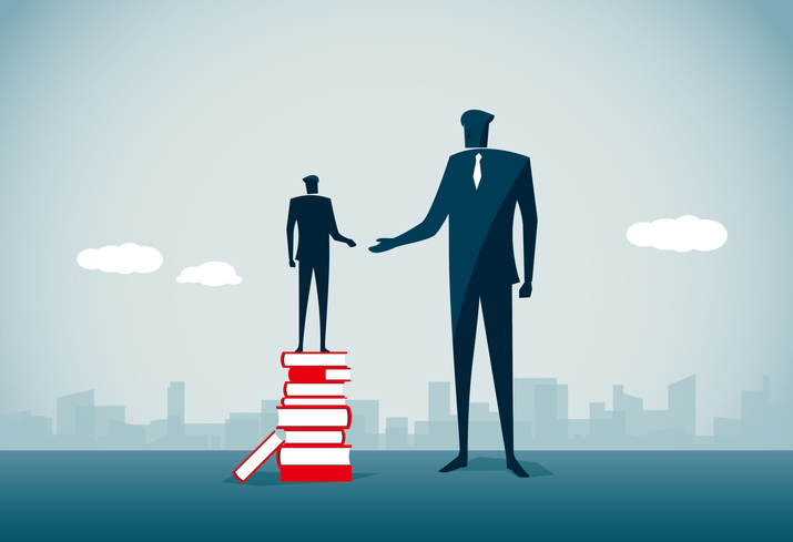 Leg-up from larger business partner