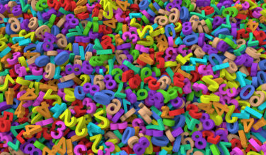 3d Heap of colorful numbers