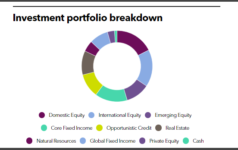 LSERS' investment portfolio breakdown