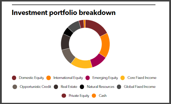LSERS' investment portfolio breakdown