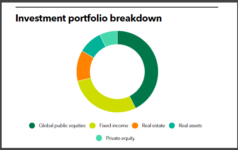 Reno Foundation's investment portfolio breakdown