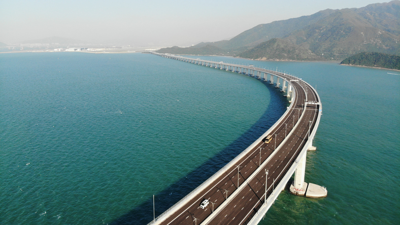 Hong Kong-Zhuhai-Macao Bridge in hong kong