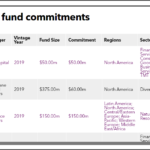 TMRS Fund Commitments