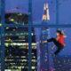 A woman climbing a wall at 22 Bishopsgate