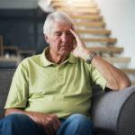 senior citizen elderly sad unhappy worried