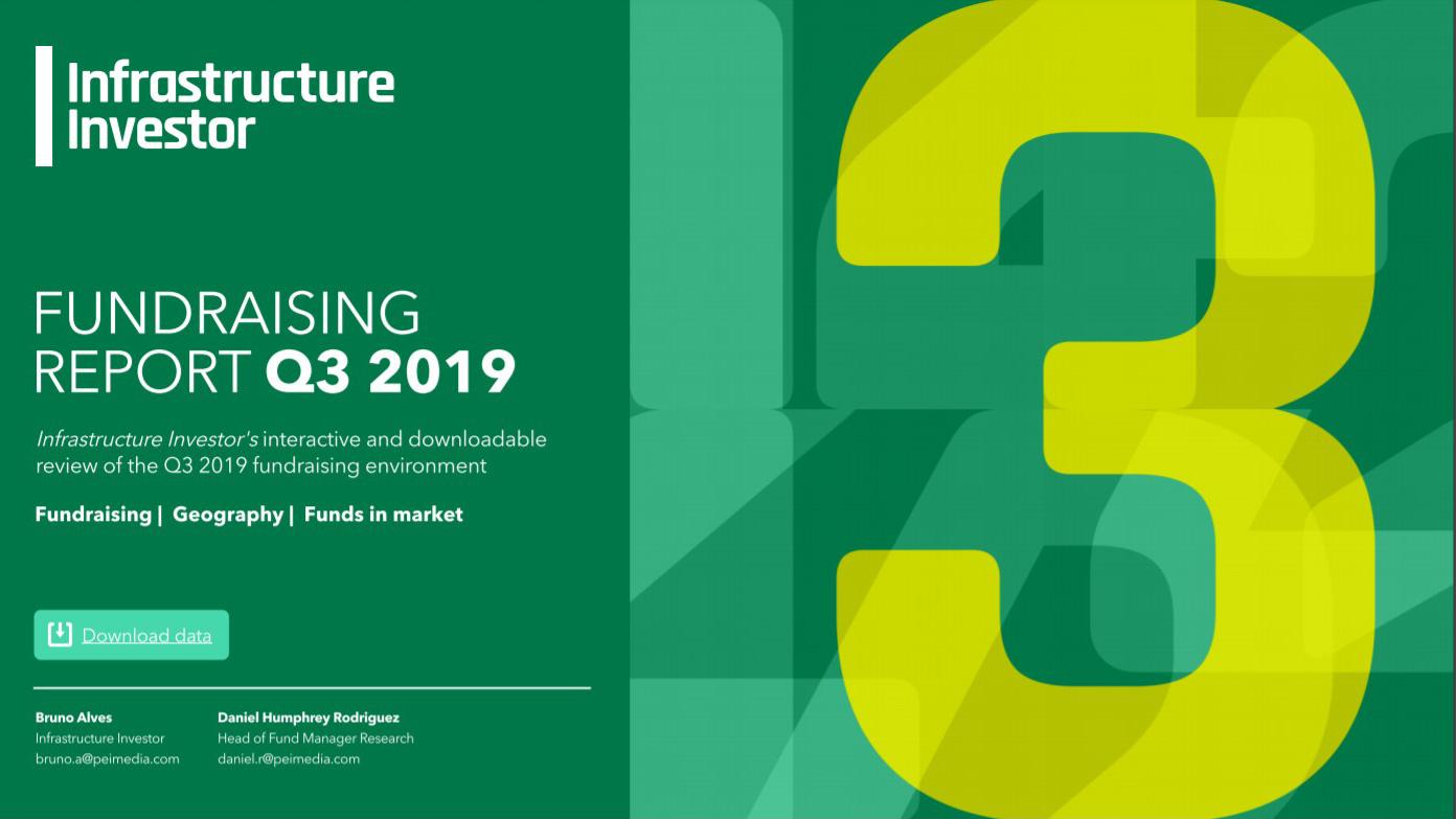 Infrastructure Investor Fundraising report Q3 2019