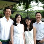 Intudo Ventures' Eddy Chan, Ashley Suhalim, Isaura Tjhiater and Patrick Yip