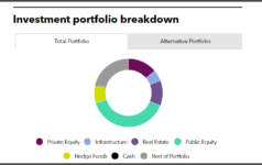 Investment portfolio breakdown of Teacher Retirement System of Texas