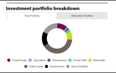 Investment portfolio breakdown of Virginia Retirement System
