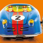 Toy car on an orange backgroun