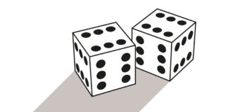 An illustration of two dice