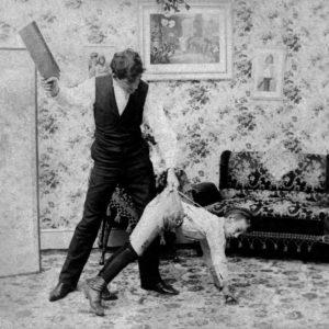 paddling, spanking, punishment, vintage, old-fashioned