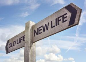 change in direction, new life, restart, starting over, fresh start