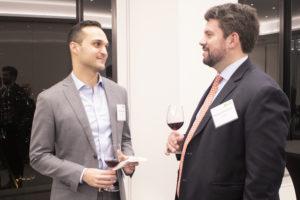 GIC's Jeremy Weisberg shares a drink with 17Capital's Rich Golaszewski