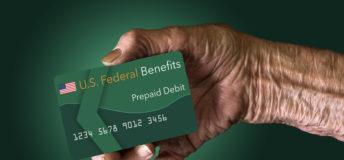 Elderly person prepaid debit card