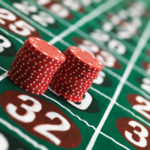Betting on a roulette table