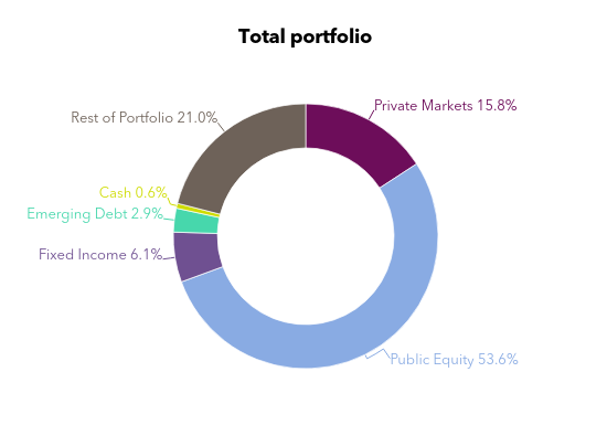 Chart showing LASERS private equity allocation