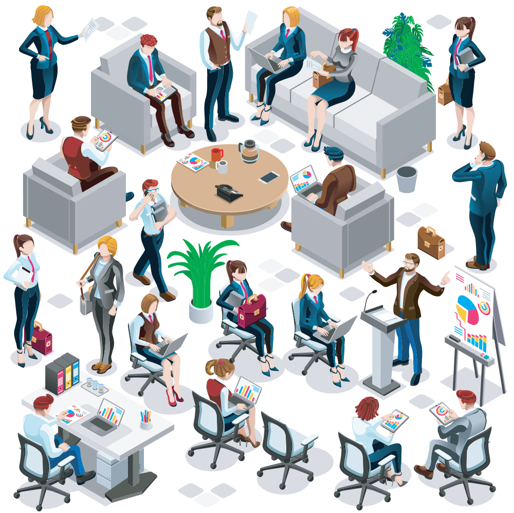 Diversity office graphic