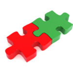 Jigsaw pieces to represent M&A activity