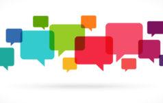 coloured speech bubbles
