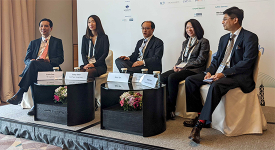 Panelists at the HKVCA Asia Private Equity Forum